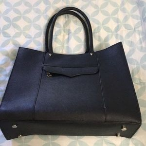 Rebecca Minkoff medium sized black leather tote